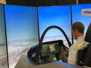Steve Knight Tests the Flight Simulator