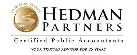 Hedman 25th Anniversary Logo
