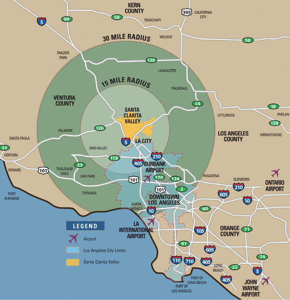 Santa Clarita Valley is a great location for business