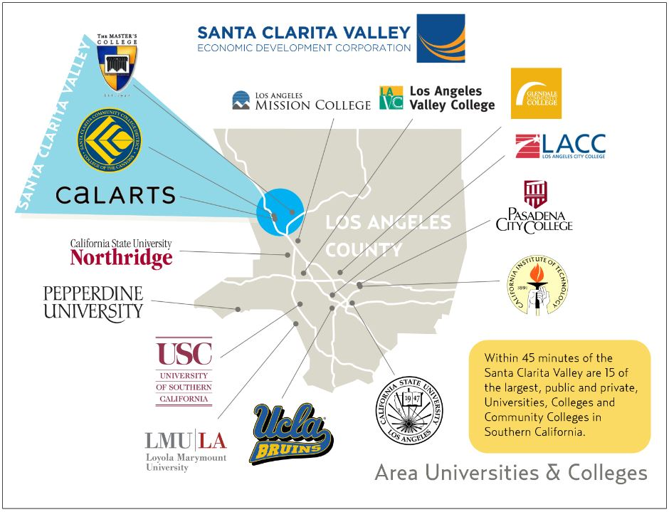 colleges map